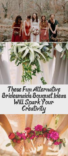 These Fun Alternative Bridesmaids Bouquet Ideas Will Spark Your Creativity! - Green Wedding Shoes #CasualBridesmaidDresses #BridesmaidDressesTurquoise #DifferentBridesmaidDresses #BridesmaidDressesBoho #LavenderBridesmaidDresses