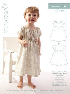 Empire Dress - 20000 - Minikrea sewing pattern - 6mo-3yrs (4823.90.00.95)