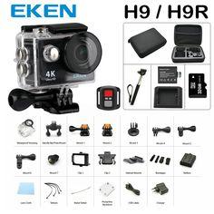 39.55$  Buy now - New Arrival Bundle Action Camera 100% Original Eken H9/H9R Ultra HD 4K 30M sport 2.0' Screen 1080p FHD go waterproof pro camera  #aliexpressideas