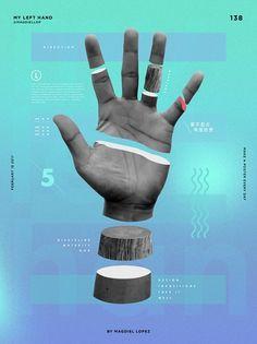 """Magdiel Lopez, """"My Left Hand"""". Artes, ilustración, diseño de posters."""