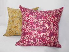 Flowery Parisian fabric covers in red and yellow