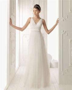 vestidos de novia sencillos cortos para boda civil
