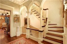 Lovely front hall and stairs W 84th St Brownstone NYC