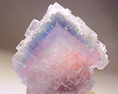 Fluorite / Reguerin, Asturias, Spain This structure is unbelievable.