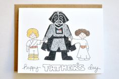Funny Father's Day card - Star Wars, eco friendly-Totally just bought one! I was even able to order three Leias!!!!