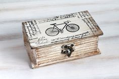 Beige Decorative Book Box Bicycle Keepsake Box by MyHouseOfDreams, $28.00