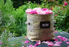Collecting rose petals is a must this time of year! Garden Bags, Linen Bag, Designers Guild, Market Bag, Rose Petals, Cushion Covers, Bag Accessories, Shopping Bag, Reusable Tote Bags