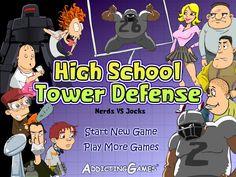 http://www.kizi1.in/high-school-tower-defense.html