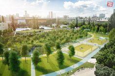 """Ilustračný obrázok k článku Moderný športpark začne rásť už tento mesiac. """"Jama"""" predstaví Bratislavčanom celkom nové verejné priestranstvo"""