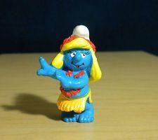 Smurfette Hula Dancer Lei Hawaii Smurf Vintage Figure Hawaiian Toy 20231 2.0231