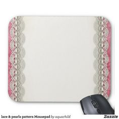 lace & pearls pattern Mousepad