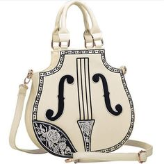 e001f2367a83 2016 New Fashion Violin Women Leather Handbags Vintage Lolita Gothic Palace  Embroidered Messenger Funny Shoulder Bag