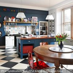 Using traditional cabinet making skills, our kitchens are created with the dedication and attention to detail you expect from a handmade kitchen. Handmade Kitchens, Bespoke Kitchens, Bespoke Furniture, Retro Chic, Cool Walls, Interior And Exterior, Modern, Sweet Home, Couch
