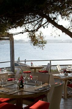 One of the most beautiful places to view Dalt Vila while dining! Sa Punta, Talamanca, Ibiza, Spain