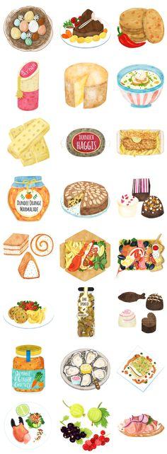 Scotland Food Map Illustration on Behance