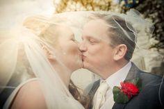 Wedding photography, veil
