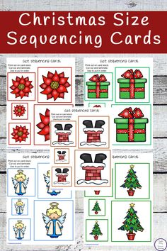 This mega pack of Christmas Size Sequencing Cards is awesome. With over 30 sets of size sequcing cards, they will keep the kids entertained for ages.