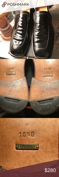 Gucci men's 10 1/2 Euro Excellent condition, no damage, ready to roll !! They fit like an 11 D US size, Hecho en Italia Gucci Shoes Loafers & Slip-Ons