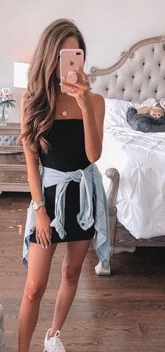 eb843f5240  fall  outfits black tube dress. summer outfits for teens fashions Winter  Fashion Outfits