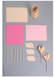 DIY paper and toothpick tulip
