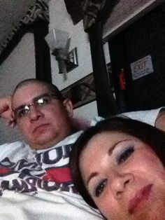Me & my hubby watching the first Texan game together