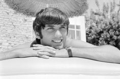 George Best relaxing on an inflatable bed whilst on holiday in 1967. #Goalhangers.co.uk