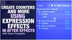 Sean Frangella Create Number Counters and more with Expression Control Effects