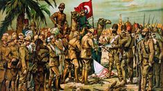 Photos of a hand painting depicting the British garrison to the Turkish forces at the Battle of Kut - Al-Amarah on 29 April Old Iraqi Picturesتويتر Blue Green Eyes, Best Carpet, Ottoman Empire, Cultura Pop, World War I, Rugs On Carpet, Victorious, Wwi, Most Beautiful Pictures