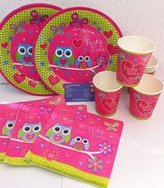 OWL  PARTY PACKS. 24 piece pack. OWL PARTY SUPPLIES