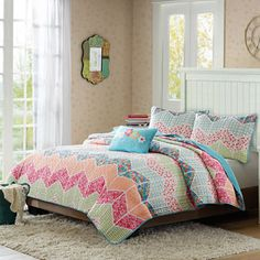 jcpenney.com | Mi Zone Emma Chevron Striped Quilt Set + BONUS Decorative Pillow