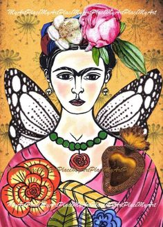 Frida kahlo art original aceo collage te adoro by myartplace frida - in all Frida Kahlo Diego Rivera, Frida And Diego, Art Original, Original Paintings, Acrylic Paintings, Frida Artist, Fridah Kahlo, Arte Popular, Cool Sketches