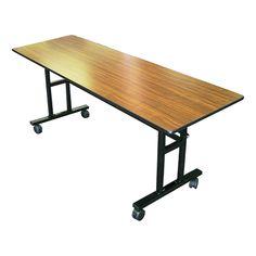 Rectangle Mobile EZ-Tilt Cafeteria Table