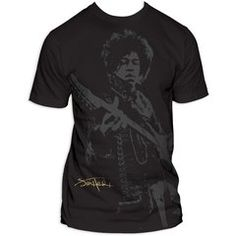 Jimi Hendrix Shadow Jimi Big Print Subway T-Shirt bY IMPACT MERCHANDISE