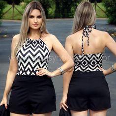 "40 Likes, 3 Comments - Cristiane Jotta (@glossy_house) on Instagram: ""Body Estampa Zigzag (com bojo) R$79,90 / Short Social Preto R$79,90 ✔️ Disponíveis na loja virtual:…"""