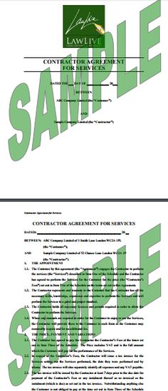 Service Agreement Form Free Contract for Services Template (UK - agreement for services template
