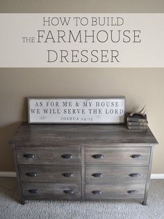 How to build and stain your own Farmhouse Dresser.