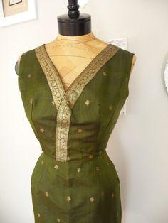 Sari inspired Holiday Dress