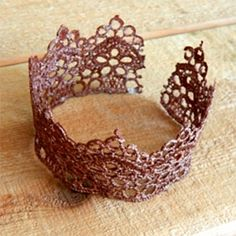Faux Metal Lace Cuff
