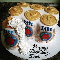 Trendy cake for men beer miller lite 38 Ideas Miller Lite Cake, 21st Birthday Cakes, Birthday Beer, Birthday Ideas, Clean Eating Cake, Cake Decorating For Beginners, Wedding Cake Pops, Cake Recipes From Scratch, Cakes For Men