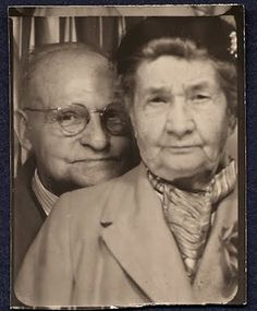 ** Vintage Photo Booth Picture **   These two are a hoot!