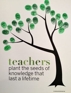 Classroom Fingerprint Tree- perfect gift for teacher appreciation or the end of the year.