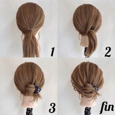 Gorgeous Hairstyles to Save You Time – low bun hairstyles for short hair 5 Minute Hairstyles, Low Bun Hairstyles, Pretty Hairstyles, Diy Wedding Hair, Hair Arrange, Hair Setting, Short Hair Styles Easy, Pinterest Hair, Hair Today
