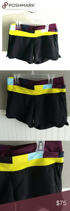 NWOT Lululemon Shorts! Selling a Pair of NWOT Lululemon Shorts! These shorts have a great color pattern! Comfortable, size 8 and ready for that work out, or just to lounge in! lululemon athletica Shorts