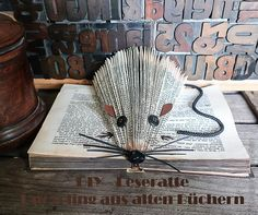 Leseratte-Upcycling-altes-Buch-falten