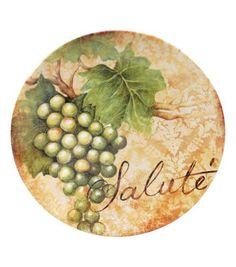 Susan Winget Ceramic Dessert Plates Wine 4