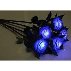 Blue LED Roses