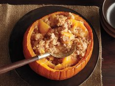 Baked Pumpkin Rice Pudding from FoodNetwork.com
