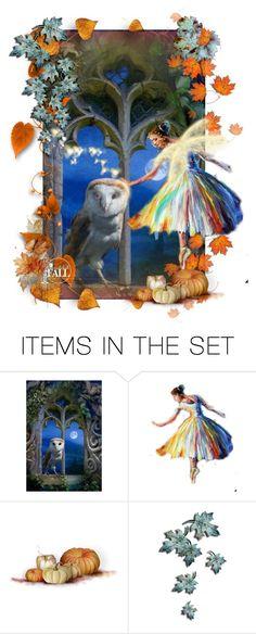 """Autumn Fairy"" by halloweenismyfav ❤ liked on Polyvore featuring art and autumnfairy"