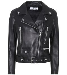 Acne Studios - Mock leather jacket - Acne Studios reigns supreme when it comes to the leather biker jacket. This season sees a more slim-fitting version, crafted from butter-soft plongé leather to ensure the most supple and comfortable finish. As always, plenty of silver-toned zips ensure a rock'n'roll finish that's both cool and timeless. With endless styling possibilities, it'll be in your wardrobe for years to come. seen @ www.mytheresa.com