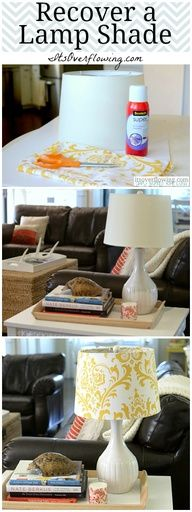 $5 Lamp Shade Makeover.  @Its_Overflowing